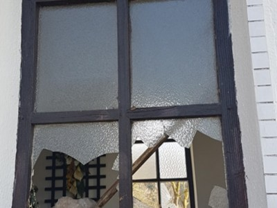 Vandalizmus na kaplnke na Skalke v Horných Ladcoch 2018