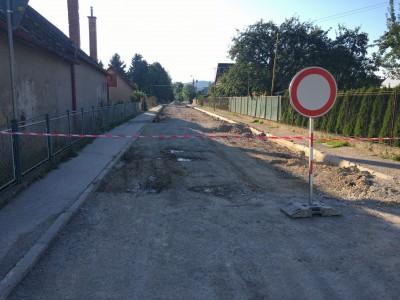 Rekonštrukcia ulíc Záhradná a Vážska 2017
