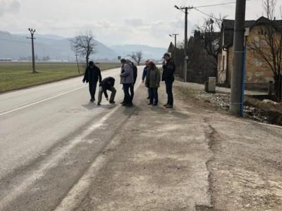 Obhliadka cesty 1. triedy v Ladcoch 2018