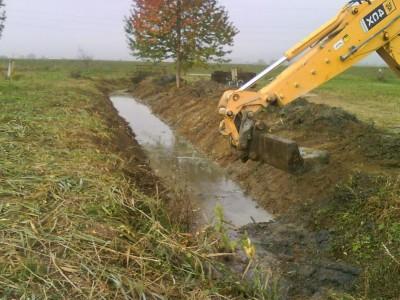 Úpravy potoka 2009