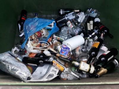 Kontrola smetných nádob na sklo 2019