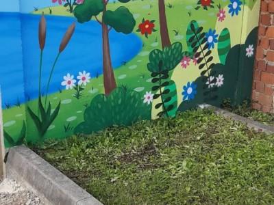 Maľovanie plota v MŠ Ladce 2019