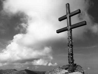 slovenský dvojkríž na vrchole Ďumbiera