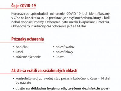 KKoronavírus leták - odporúčania  01