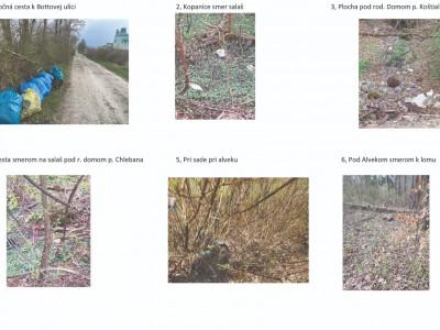 Mapa čistenia pre Horné Ladce a mapa skládok, 02