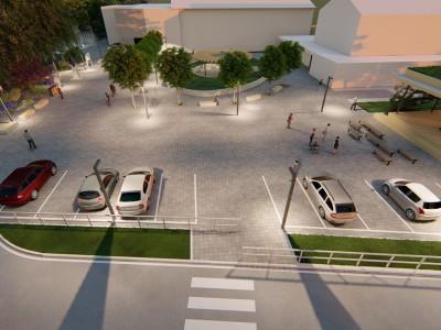 Prepojenie kultúrneho domu, priestoru pred kostolom a križovatky 2021