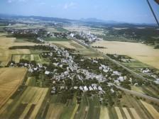 letecká snímka Tunežice